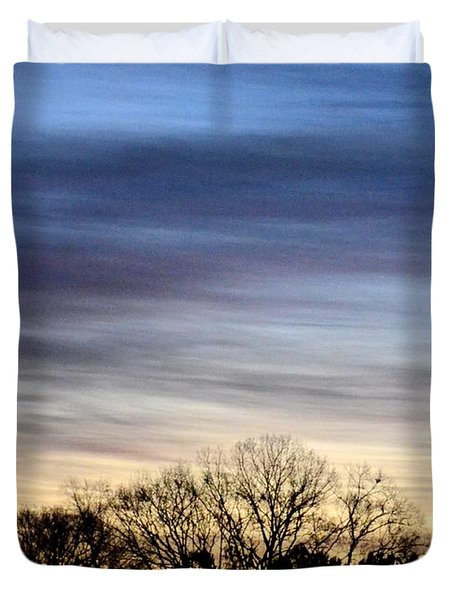 February 1 Dawn 2013 II Duvet Cover by Maria Urso