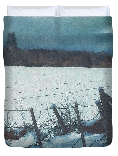 February Duvet Cover by Jutta Maria Pusl