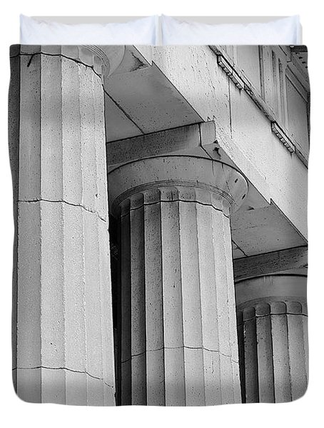 Federal Hall Columns Duvet Cover by Jerry Fornarotto