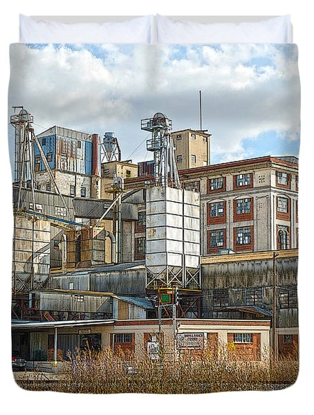 Feed Mill Hdr Duvet Cover by Charles Beeler