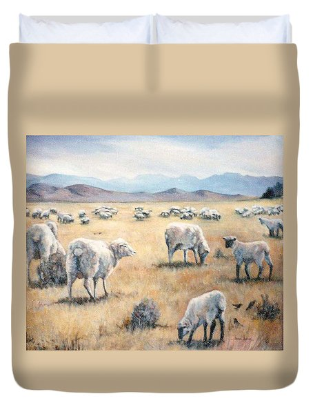 Feed My Sheep Duvet Cover