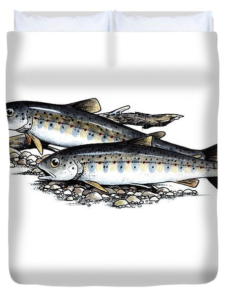 Feeding Parr Duvet Cover