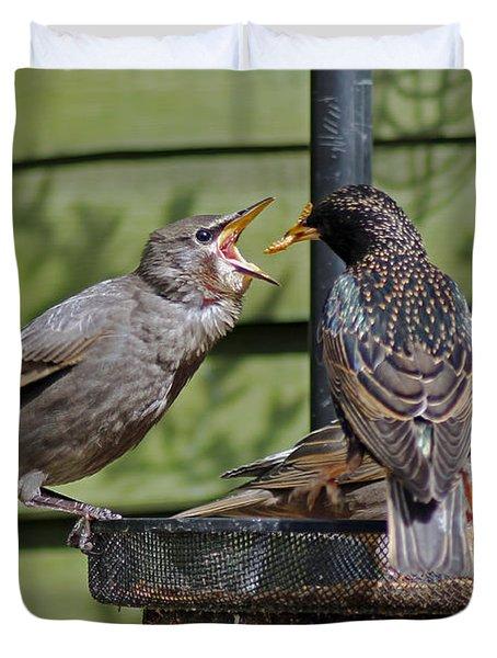 Feeding Time Duvet Cover