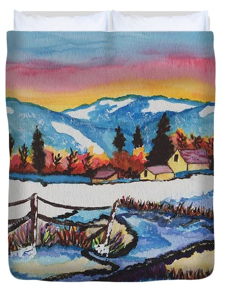 Feeling Alot Like Christmas Duvet Cover by Connie Valasco