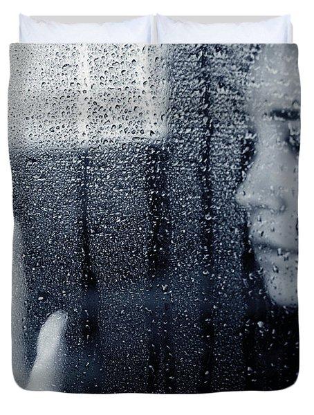 Feeling Blue Duvet Cover by Lisa Knechtel