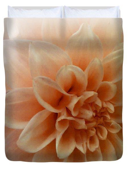 Feeling Peachy Duvet Cover by Faye Symons