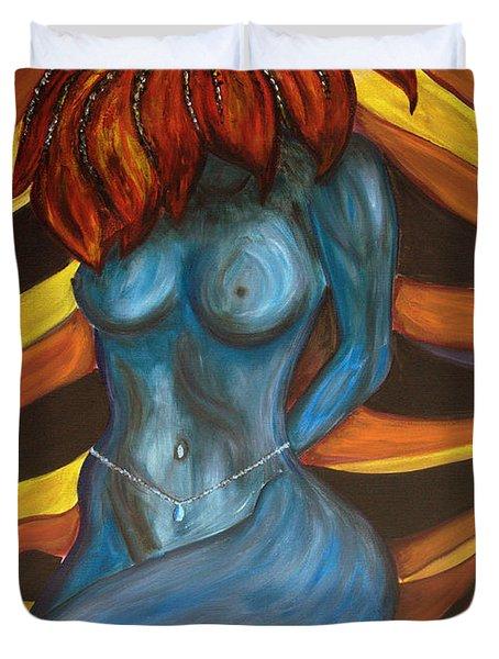 Feeling The Blues... Duvet Cover