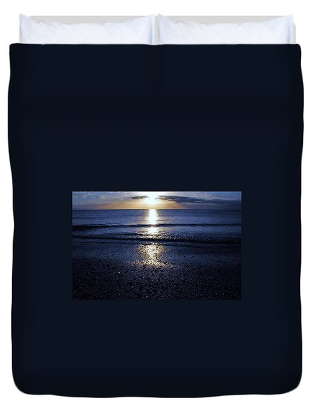 Feeling The Sunset Duvet Cover by Kicking Bear  Productions