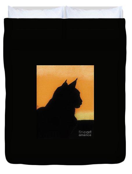 Feline - Sunset Duvet Cover