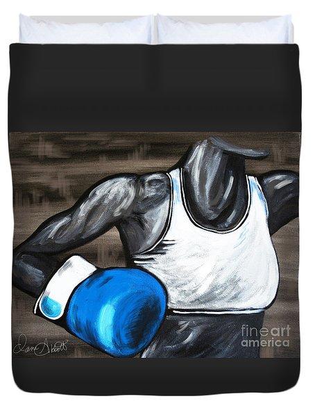 Female Boxer Duvet Cover