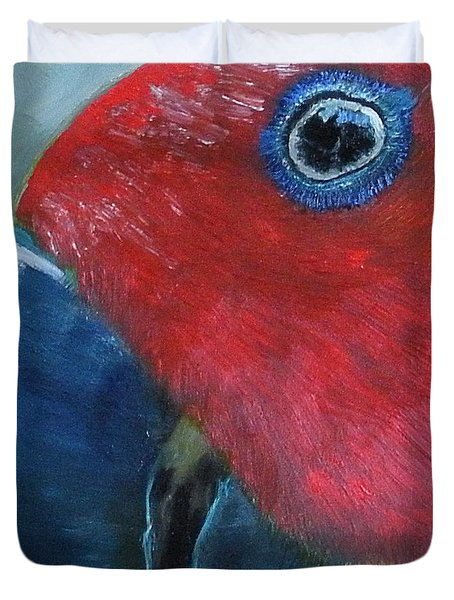 Female Eclectus Duvet Cover