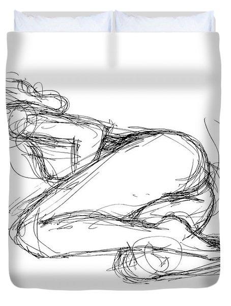 Female-erotic-sketches-8 Duvet Cover