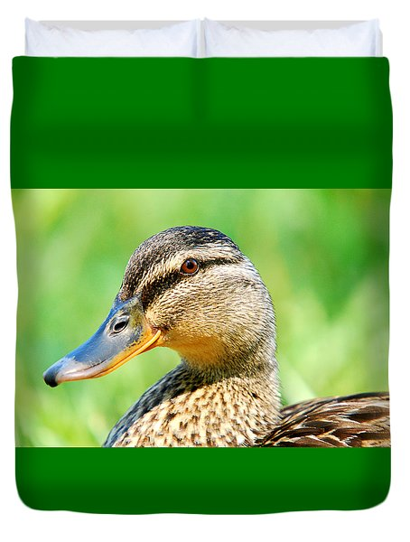 Female Mallard Duvet Cover