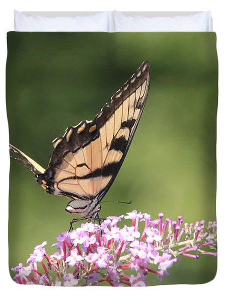 Female Tiger Butterly-1-featured In Macro-comfortable Art And Newbies Groups Duvet Cover by EricaMaxine  Price