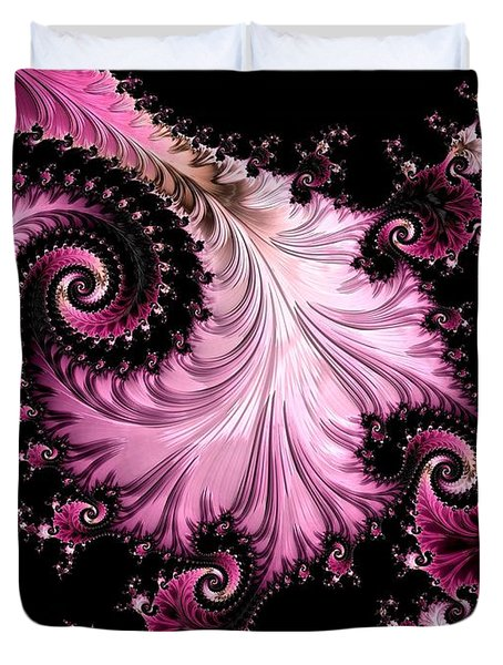 Femme Fatale Fractal Duvet Cover by Susan Maxwell Schmidt