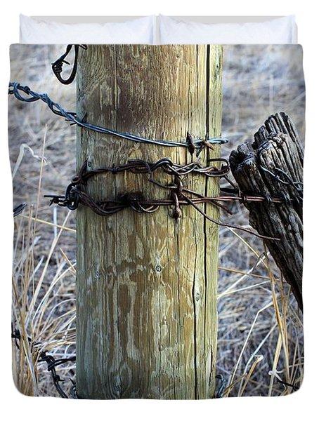 Fence Corner Duvet Cover