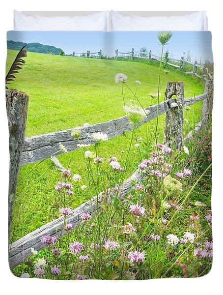 Fence Post Duvet Cover by Melinda Fawver