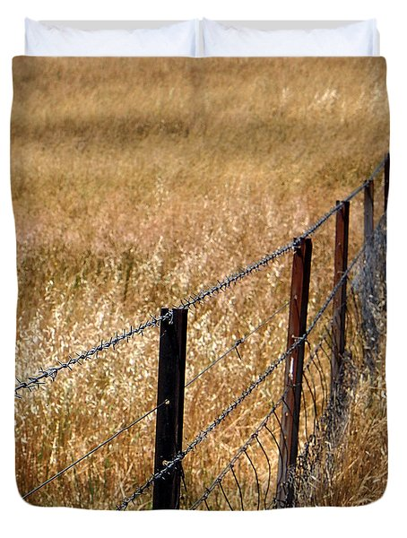 Fenced Off Duvet Cover by Kaleidoscopik Photography