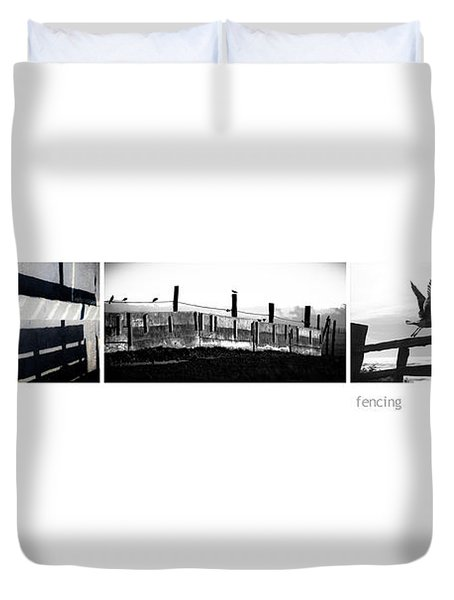 Fencing Triptych Image Art Duvet Cover