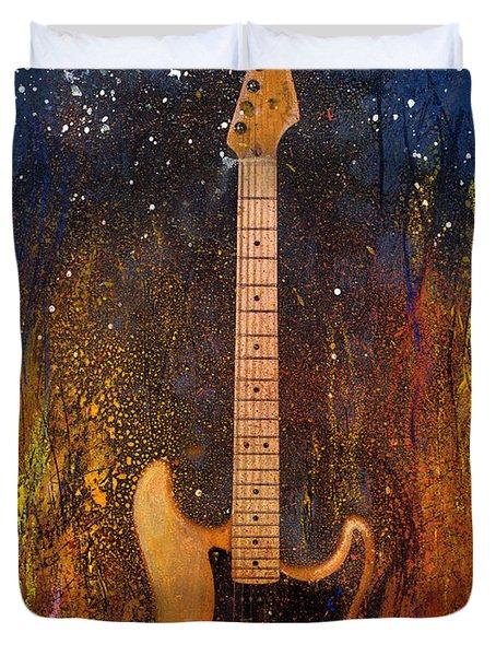 Fender On Fire Duvet Cover