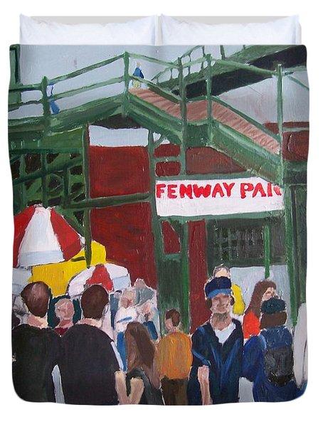 Fenway Park Spring Time Duvet Cover by Carmela Cattuti