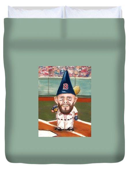 Fenway's Garden Gnome Duvet Cover by Jack Skinner