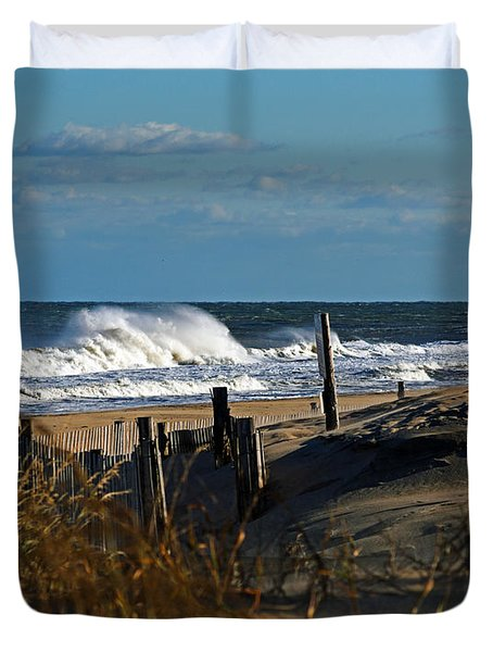Fenwick Dunes And Waves Duvet Cover