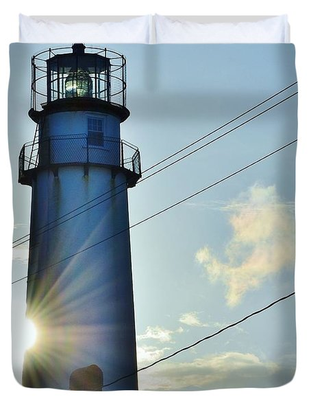 Fenwick Island Lighthouse - Delaware Duvet Cover