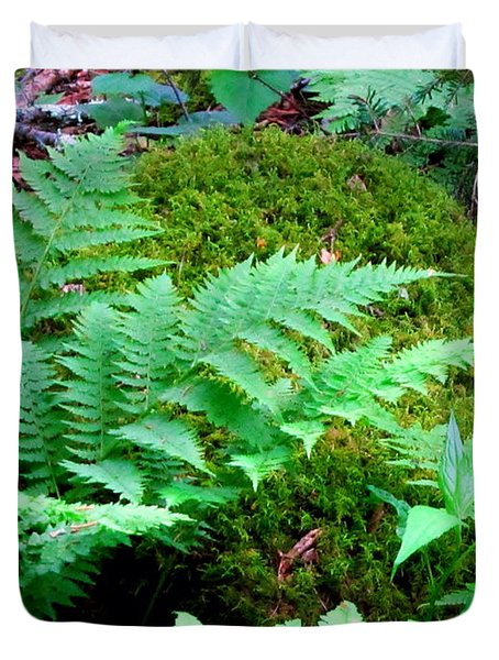 Fern And Moss Duvet Cover