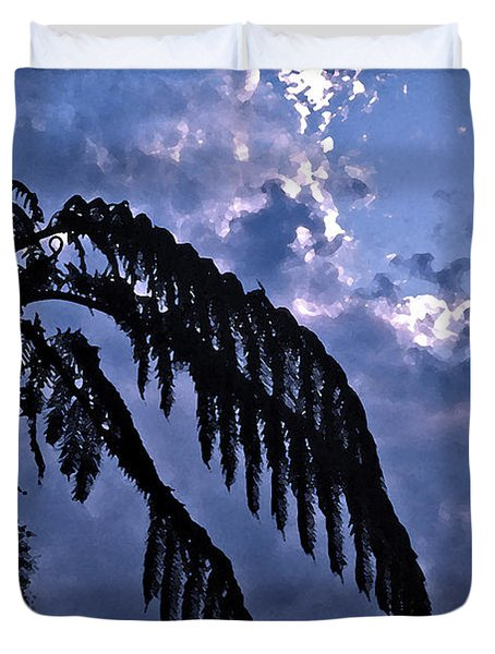 Fern At Twilight Duvet Cover