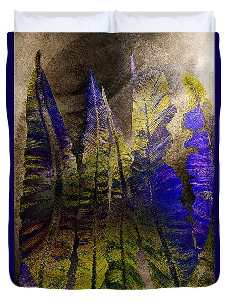 Fern Forest Duvet Cover by Paula Ayers
