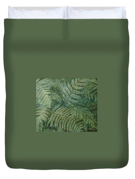 Fern Frenzy Duvet Cover by Joann Renner