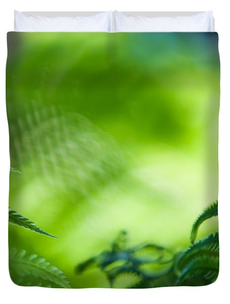 Fern Leaves. Healing Art Duvet Cover