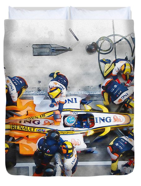 Fernando Alonso Duvet Cover