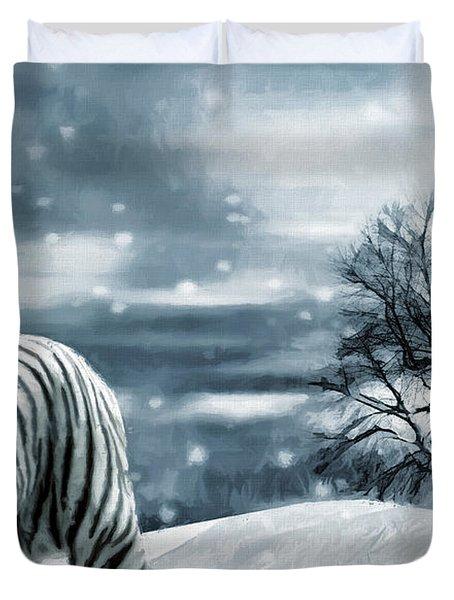 Ferocious Beauty Duvet Cover by Lourry Legarde