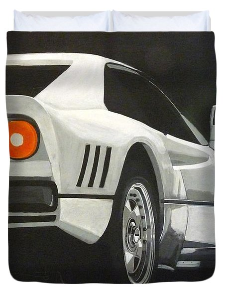 Duvet Cover featuring the painting Ferrari 288 Gto by Richard Le Page