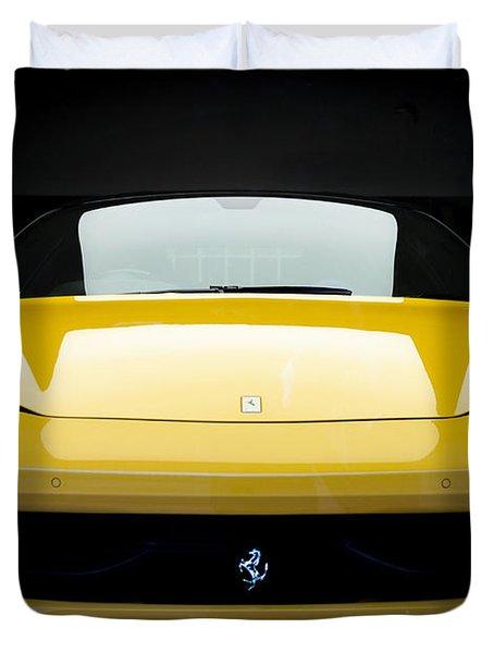 Duvet Cover featuring the photograph Ferrari 458 by Matt Malloy
