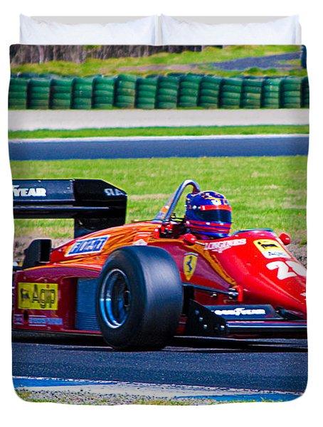 Ferrari At Phillip Island Duvet Cover