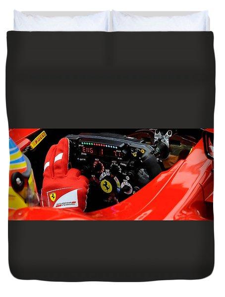 Ferrari Formula 1 Cockpit Duvet Cover