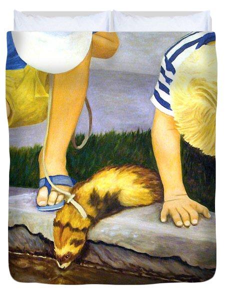 Ferret And Friends Duvet Cover