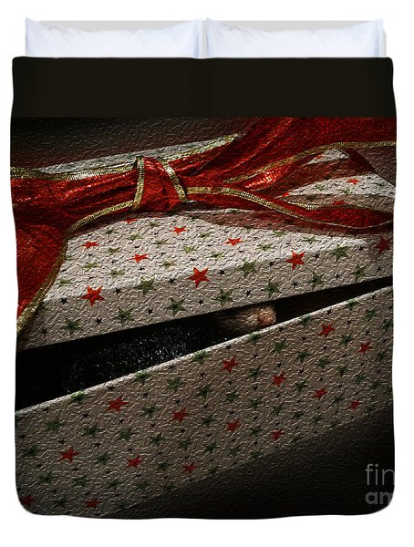 Duvet Cover featuring the photograph Ferrety Christmas by Cassandra Buckley