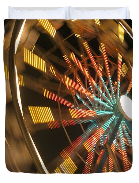 Ferris Wheel Duvet Cover by Brandon Tabiolo