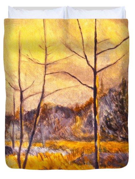 Ferrum Duvet Cover by Kendall Kessler