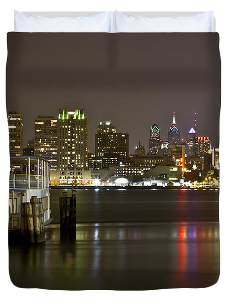 Ferry To The City Of Brotherly Love Duvet Cover
