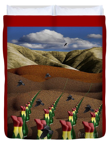 Fertile Ground Duvet Cover by Keith Dillon