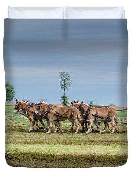 Fertilizing Duvet Cover by Guy Whiteley