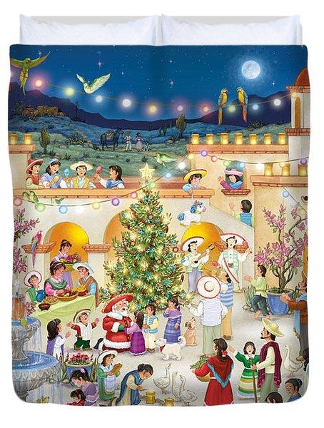 Festival Espanol De Navidad Duvet Cover