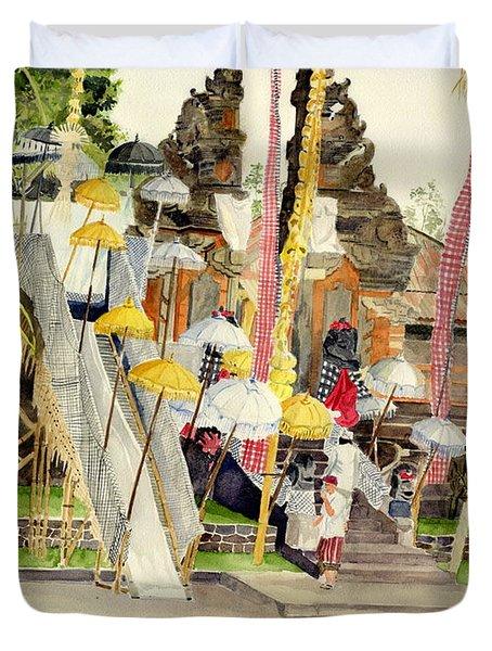 Festival Hindu Ceremony Duvet Cover