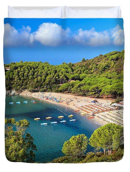 Fetovaia Beach - Elba Island Duvet Cover