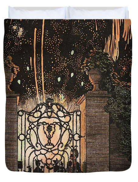 Feu D Artifice Duvet Cover by Konstantin Andreevic Somov